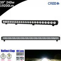 1pcs 240W 40inch 40 ED Light Bar Combo Beam for Ford Focus,UTV,ATV,Truck,Automobiles 6000K Straight Single Row LED Light Bar