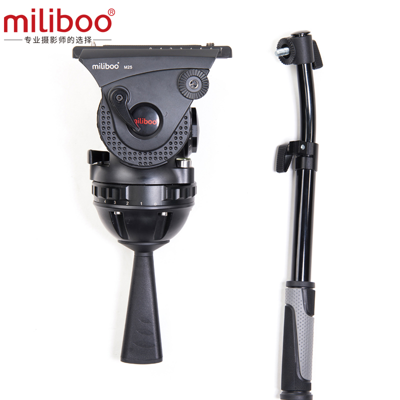 Miliboo-tête fluide de caméscope de diffusion M25 | Charge de plaque à dégagement rapide 25 kg avec support de trépied haute Performance de 100 mm