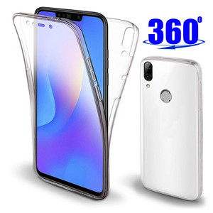 360 Degree Full Body Case For Huawei Y6 Y7 Pro P Smart 2019 P30 P20 Pro Lite P8 P9 Lite 2017 Mate 20 10 Lite Soft TPU Case Cover(China)