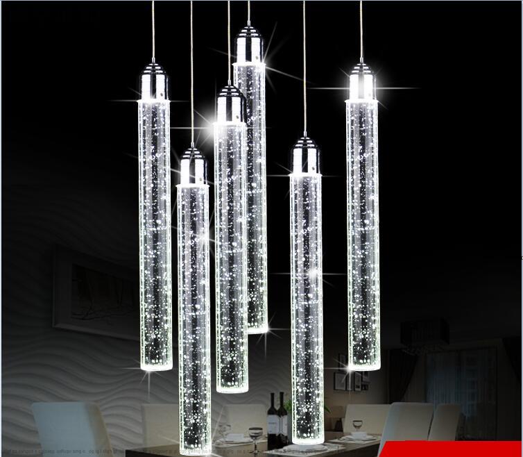 Led pendentif lumières moderne minimaliste trois personnalité créative salle à manger suspendue salle à manger lampes suspendues ZSP183151