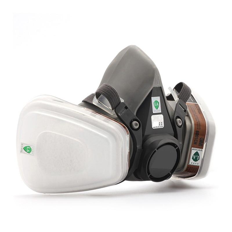 Хорошее качество 6200 респиратор, противогаз комплект + 10 шт. фильтр хлопок химических дыхательное маски для живописи работы и пыли защита