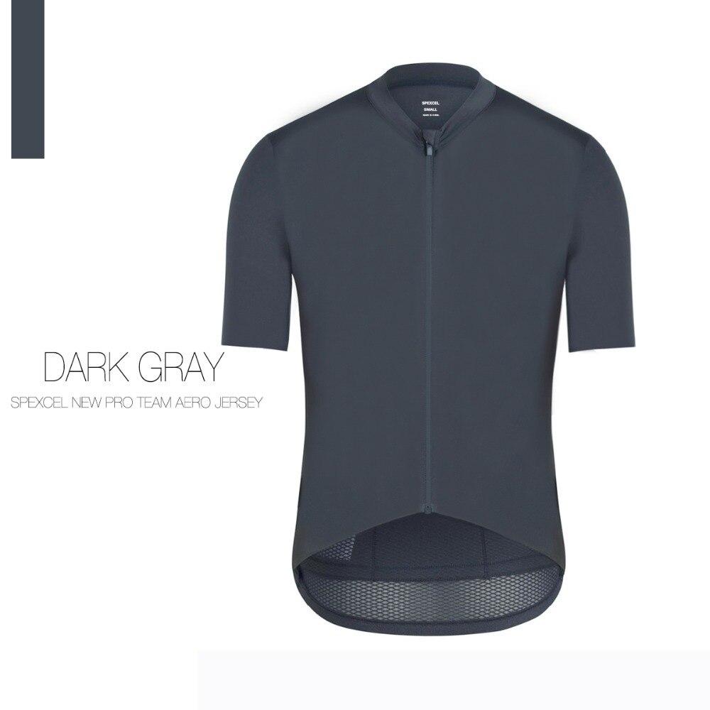 SPEXCEL Grau Top Qualität Pro Team aero radfahren jersey kurzarm Trikot Ciclismo fit leichte fahrrad jersey für sommer