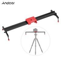 Andoer 60cm/23.6 Metal Aluminum Alloy Video Track Slider Dolly Rail Stabilizer for Canon Nikon Sony DSLR Cam Camera Camcorder