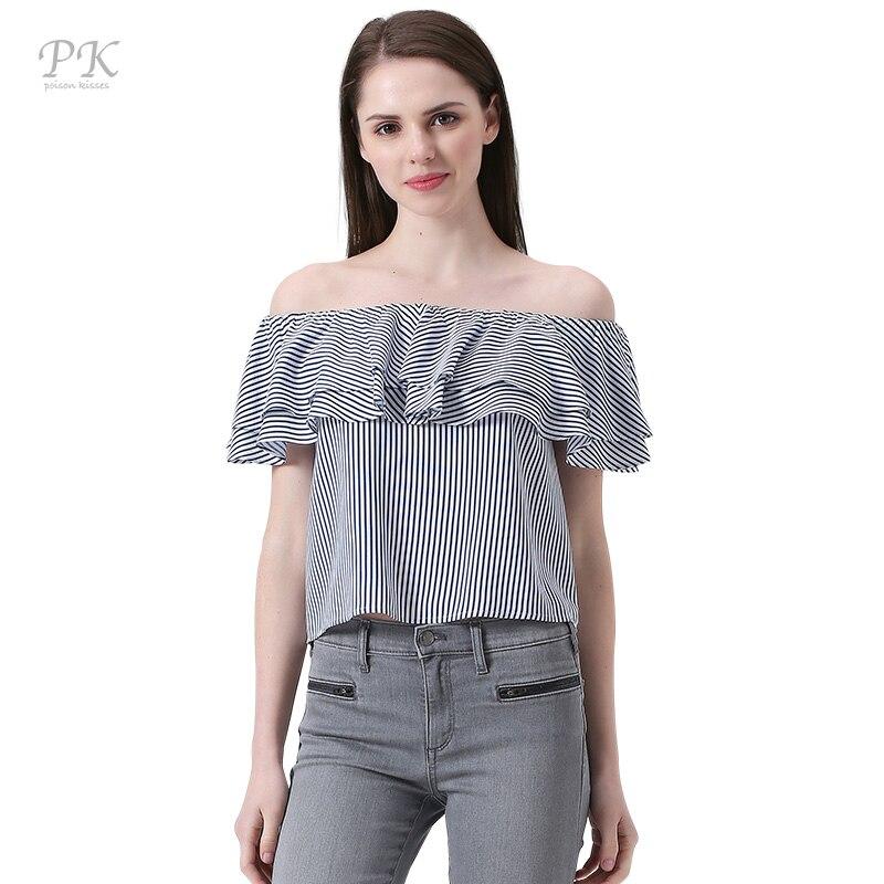 pk off shoulder womens tshirt navy blue stripe one shoulder t shirt women ruffle t shirt slash. Black Bedroom Furniture Sets. Home Design Ideas