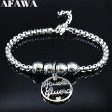 2021 família avó pulseiras de aço inoxidável para mulheres grânulo cor prata pulseira pulseira jóias pulseras mujer b18392