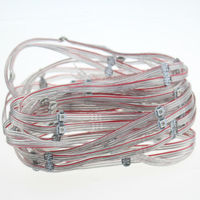 100pcs ws2812b led pixel module with 12cm wire ,ws2812 ws2811 ic integrated smd 5050 rgb led strip dc5v free shipping
