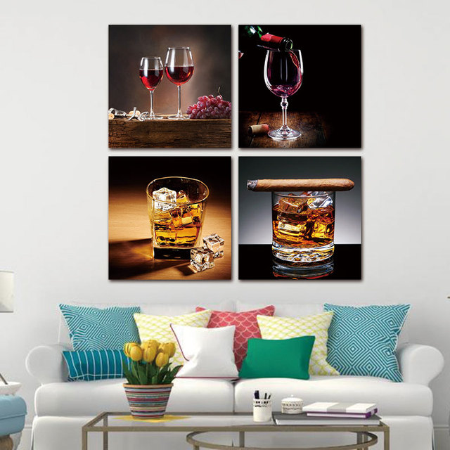 Modern Decor Living Room Home Canvas Picture Modular Poster 4 Pieces ...