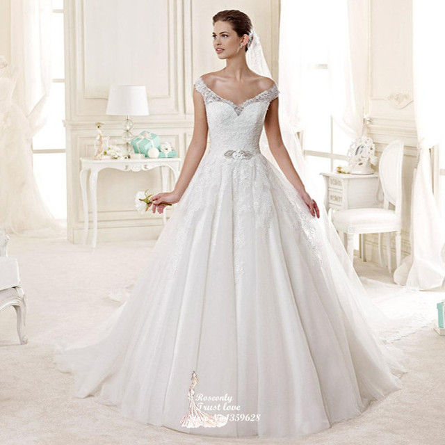 New Fashion 2017 Princess Style Illusion Lace Back Wedding Dress Hs 045 Italian Bridal