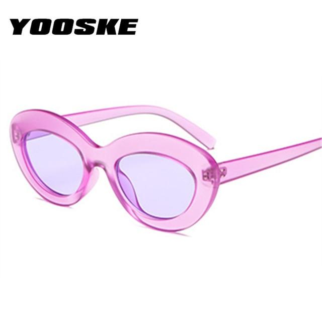 YOOSKE 90 s Influência Oval Óculos De Sol Das Mulheres Designer de Marca de  Luxo Óculos f78a22b4c4