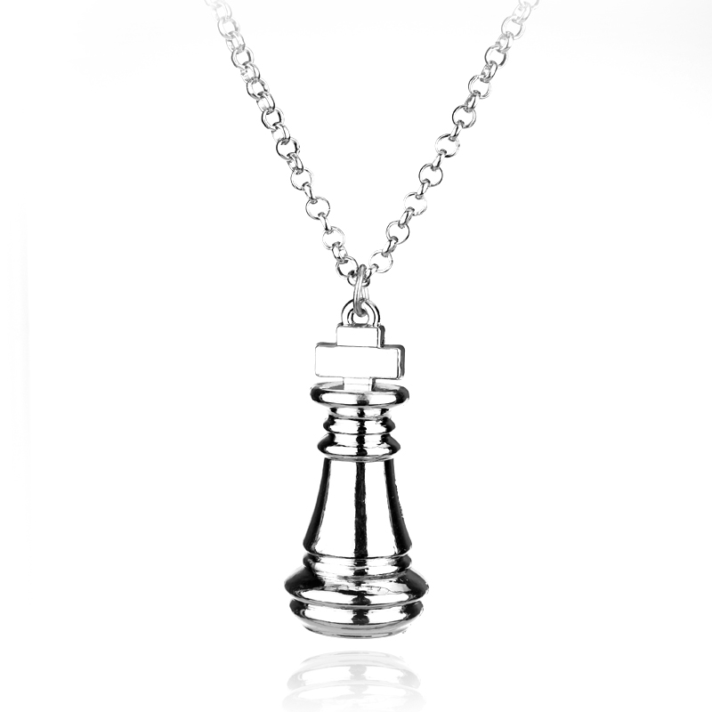 dongsheng Jewelry No Game No Life Alice Inwonderland Knigh Geek Pewter Karen Chess Pendant Necklace Gaes Pendent Chain Necklace