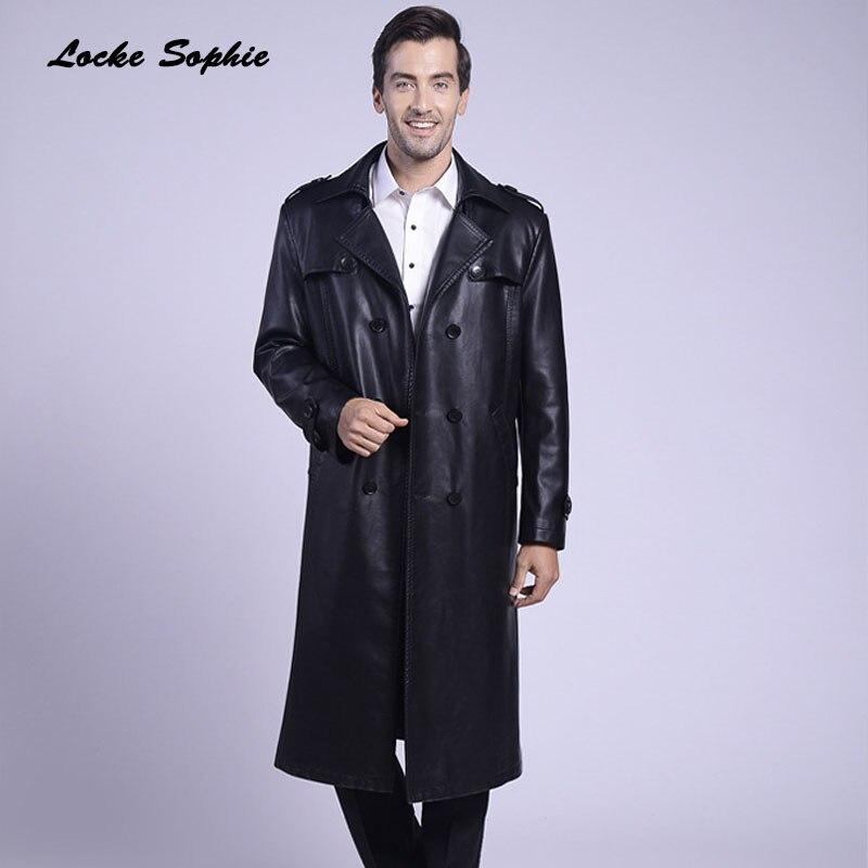 Mode Blazers Pcs Longue Plus De Maigre 2018 Manteaux Hommes La Faux Taille Locomotive Noir Vestes En D'hiver Veste 1 Cuir 6vqdRxq