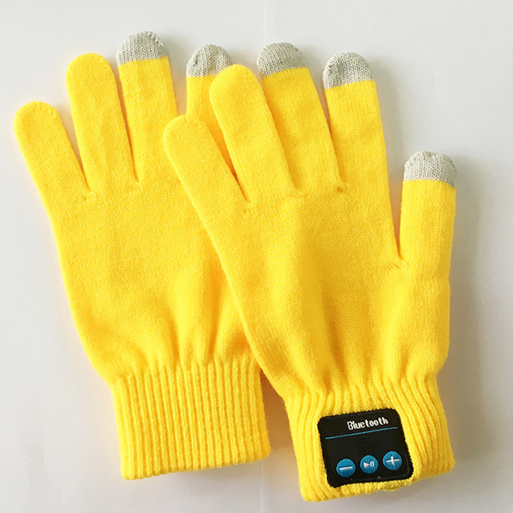 Useful Outdoor Knit Autumn Winter Built-in Speaker/Microphone Warm Windproof Gloves Bluetooth For Cellphone Gloves