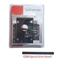 12.7MM 2nd HD HDD SSD Hard Drive Caddy for Lenovo  Y560 Y560A Y560P Y570 Y575 (Gift Optical drive bezel )