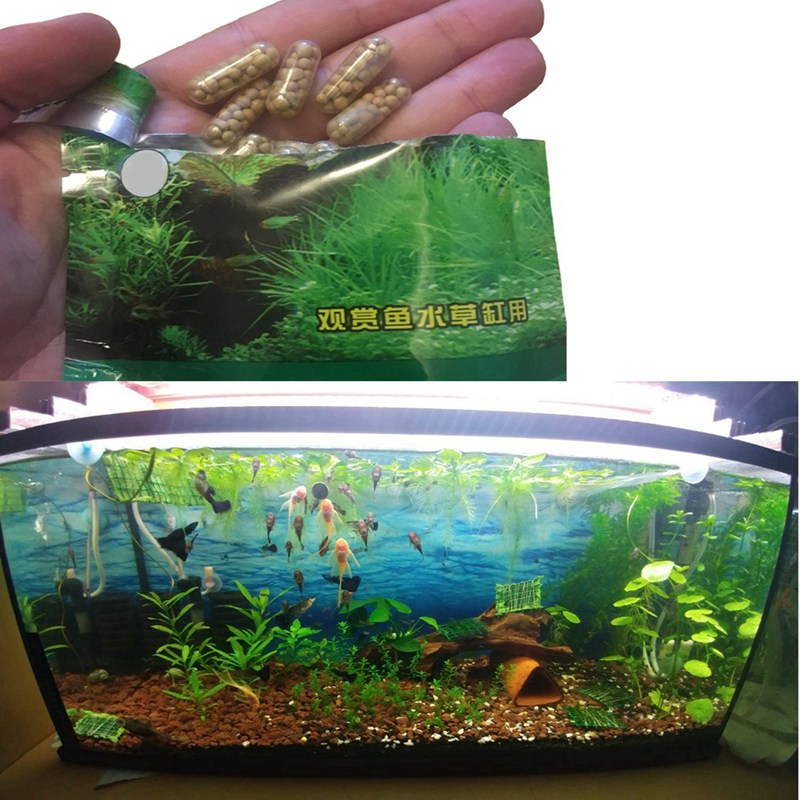 40 шт. корень таб капсулы живое водное удобрение для рыб аквариумный резервуар питание водная трава питание растение удобрение травы
