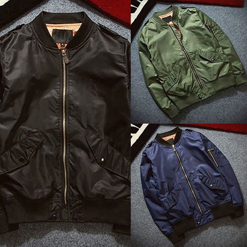 6ca7e7fae37 Men s Vintage Military Cool Motorcycle Flight Jacket Pilot Air Force Bomber  Jacket-in Jackets from Men s Clothing   Accessories on Aliexpress.com