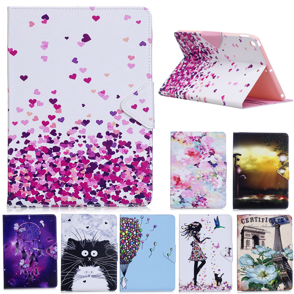 For Samsung Galaxy Tab A A6 10.1 2016 SM-T580 T585 T580 T585N Tablet Case Smart Cover Funda cartoon PU Leather Skin Stand Case
