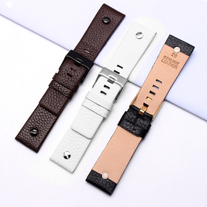 Image 4 - New Fashion Leather Watchband with rivet Watch Strap Belt Bracelet for diesel DZ7313 DZ7333 7322 7257 4318 7348 7334 Replacement