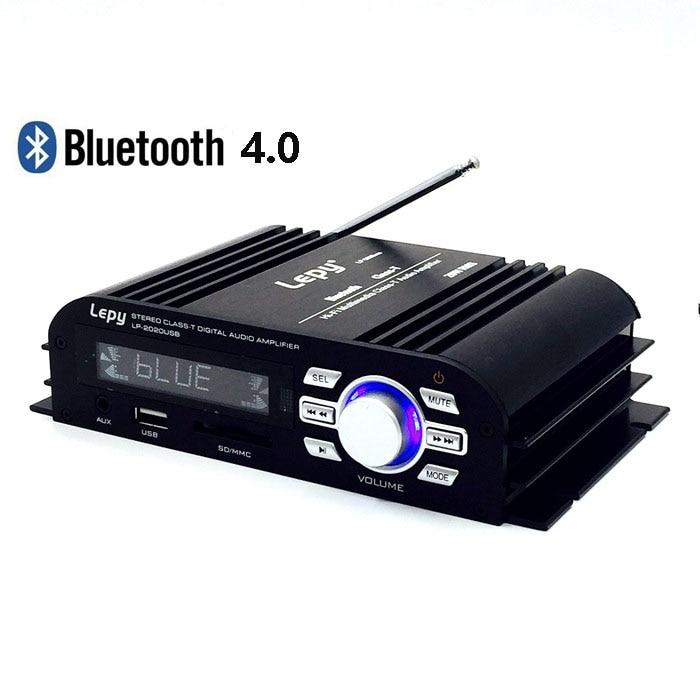 Lepy LP-2020USB 멀티미디어 HI-FI 블루투스 4.0 디지털 클래스 -T 앰프 USB SD AUX EQ 선택 및 LCD 디스플레이