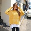 Mujeres Suéteres Y Pullovers Harajuku Estilo Coreano Ropa de Moda 4 Colores Kawaii Suéter de Punto Mujeres Suéteres de Invierno de Las Mujeres
