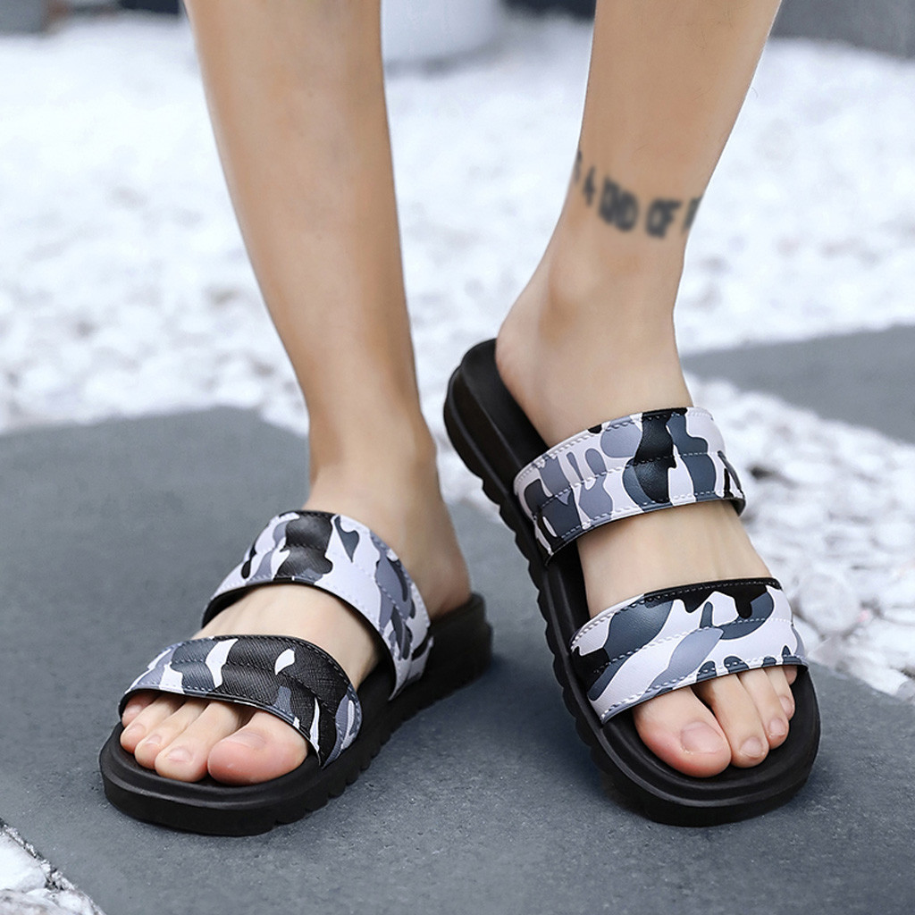 Open Toe Flip Flops