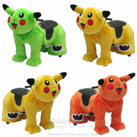 Pikachu Cartoon Battery Powered Ride On Animal Electric Ride On Toy Animal Scooter For Mall