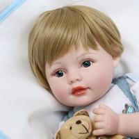 22 55cm Bebe Boy Reborn Newborn Babies Silicone Dolls for Children Birthday Christmas Gift Bonecas Brinquedo Menino
