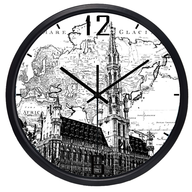 Belgium brussels plaza hotel lobby wall clock world map large belgium brussels plaza hotel lobby wall clock world map large decorative wall clock modern design fashion gumiabroncs Gallery
