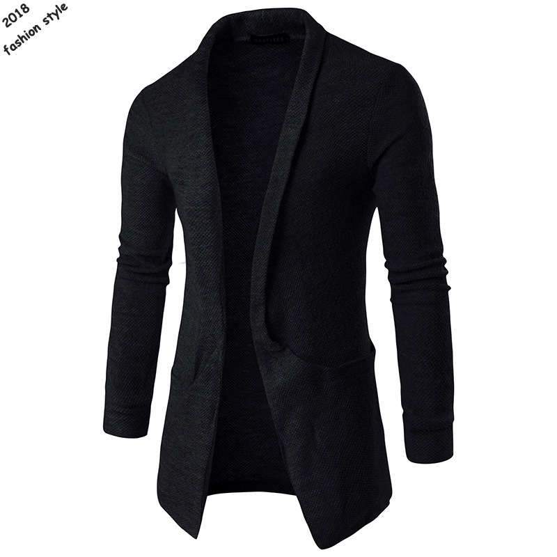 Free Shipping 2018 Autumn New Style Mens Long Sleeve V-neck Cardigan Sweaters Casual Mens Knitted Outerwear Fashion Mens Tops