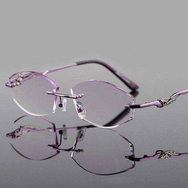 Женщины Алмазов Передовые Чтение Дальнозоркостью Очки Темперамент Женщины Очки Кадр Высокий Ясный Дальнозоркость Астигматизм