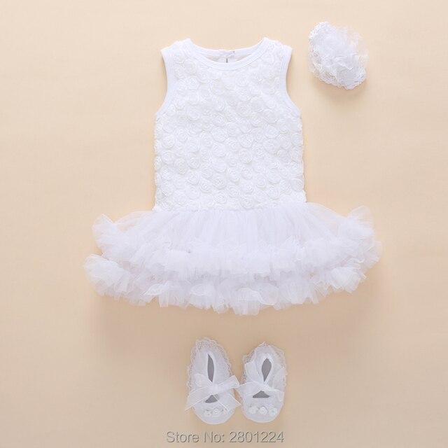 Sơ sinh quần áo bé gái 0-3 tháng hè cotton tutu bé gái 1 năm sinh nhật bộ Cho Bé gái jumpsuit Đầm Vestido infantil