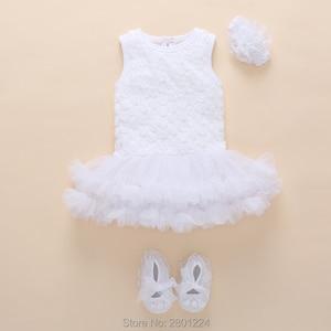 newborn baby girl clothes 0-3 months cotton summer tutu baby girl dress 1 year birthday set Baby girls Jumpsuit vestido infantil(China)