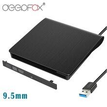 DeepFox 3,0 мм USB 9,5 SATA Оптический привод чехол Комплект Внешний Мобильный корпус DVD CD-ROM чехол для ноутбука без оптического привода