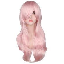 Qqxcaiw длинный вьющийся парик Женский маскарадный светильник