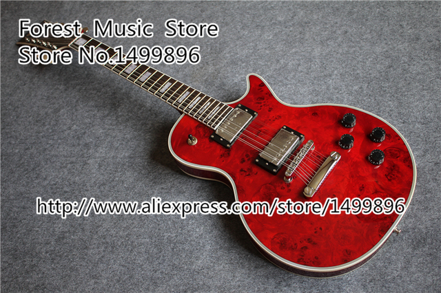 New Brand Quilted Electric Guitar 12 String Red LP Custom Body Kits Available