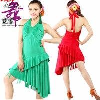 Salsa Dress Red Black Green Dress For Dance M L XL Regatas Femininas New Style Girls