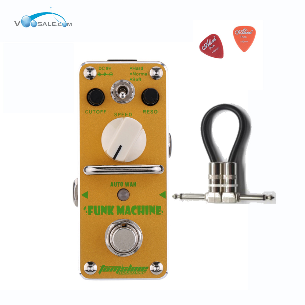 AFK-3 Funk Machine Auto Wah Electric Guitar Effect Pedal Aroma Mini Digital Pedals Effects True Bypass Guitar Parts+Free Cable aroma aos 3 octpus polyphonic octave electric guitar effect pedal mini single effect with true bypass