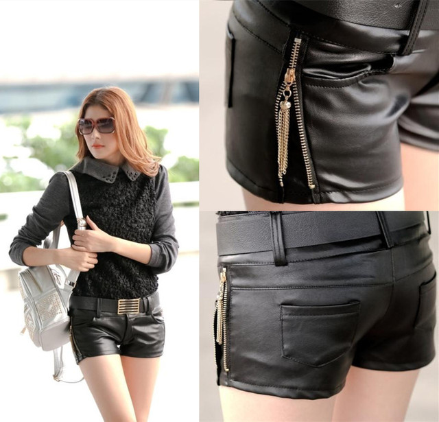 New winter sexy nightclub tight leather hot shorts lady was thin low-waist hot boots cheap clothes china women summer welcome