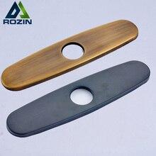 Baño fregadero de la cocina grifo rozin hole cover plate placa de la cubierta escudo cuadrado 2-3 agujeros grifo de accesorios