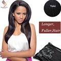 8A Clip In Human Hair Extensions Brazilian Yaki Straight Clip in Hair Extensions Human Hair Clip ins for Black Hair 70 g-220 g