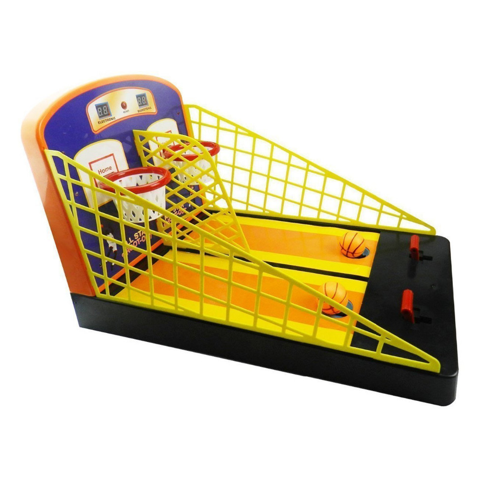 Basketball Shootout 19.5 Inches Electronic Scoring Shatterproof Portable Basketball Hoop System Basket board Set Toy with 2 Ball