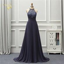 Jeanne Love Formal Luxury Long Evening Dress 2018 New Arrival Halter Open Back Prom Gowns Robe De Soiree Vestido De Festa OL5233