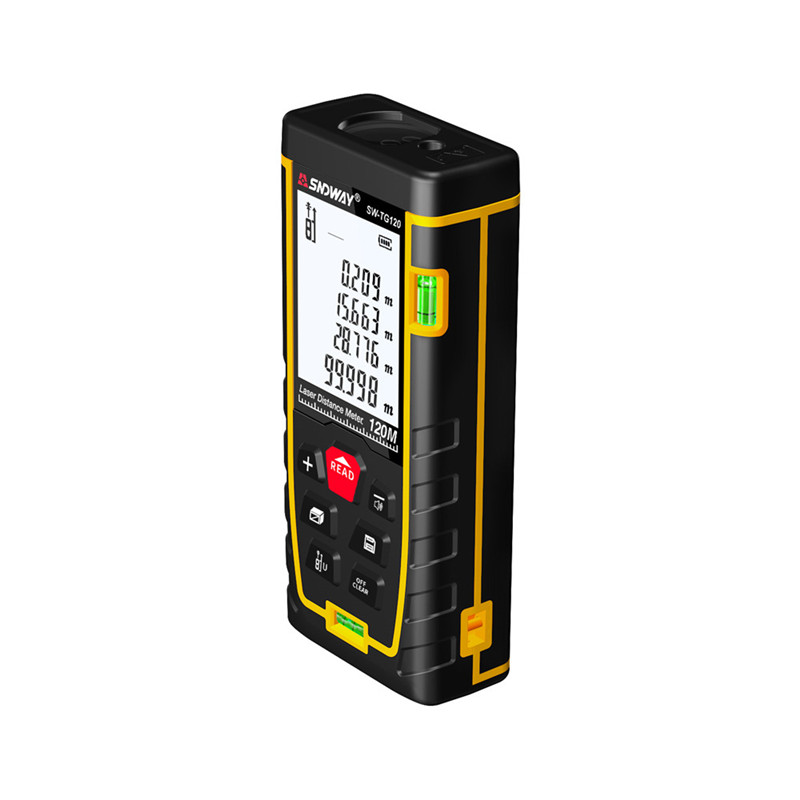 SNDWAY Laser Distance Meter 40-120M with LCD and Auto Power Off to Measure Wide Range Area 28