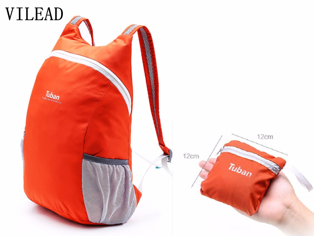 VILEAD Faltbare Ultraleichtflugzeuge Im Freien Tasche Wasserdichte Portable Männer Frauen Sport Rucksack für Reise Radfahren Bergsteigen Camping