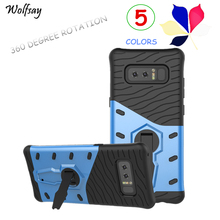 Wolfsay For Phone Cover Samsung Galaxy Note 8 Case 360 Degree Rotation Case For Samsung Galaxy