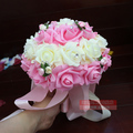 2016 In stock Purple/Pink/Red Wedding Flowers Bridesmaid Bridal Bouquets Artificial PE Rose Wedding Bouquet de mariage