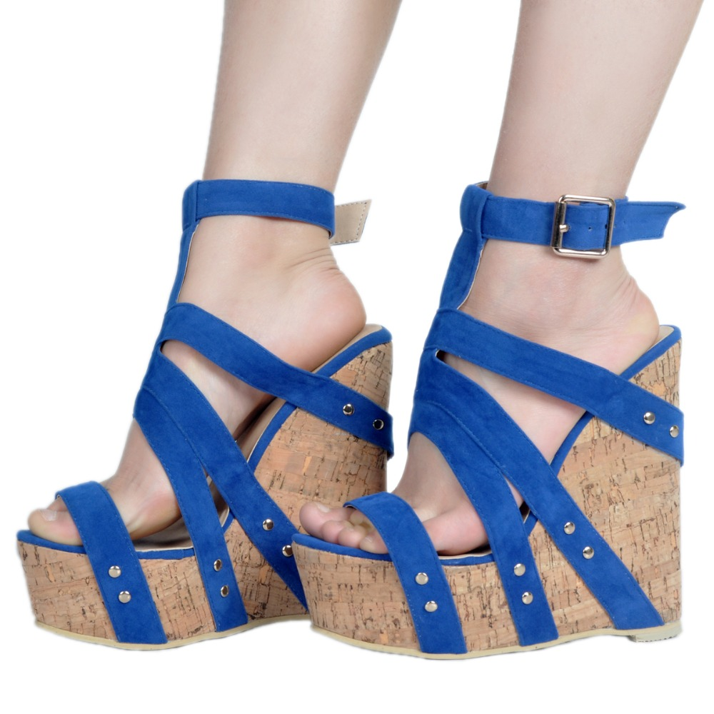 2017 Summer New Sexy Open toe Weave Patch Color Wedges Gladiator Sandals Women High Heels Platform Sandals Women's Shoes Woman phyanic 2017 gladiator sandals gold silver shoes woman summer platform wedges glitters creepers casual women shoes phy3323