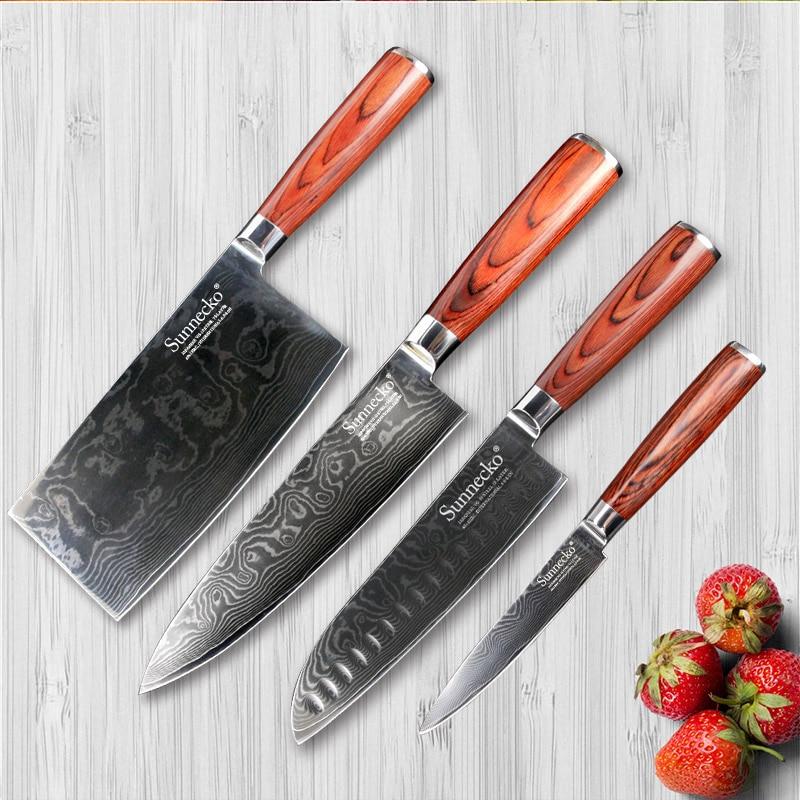 Aliexpress.com : Buy SUNNECKO 4PCS Kitchen Knives Set