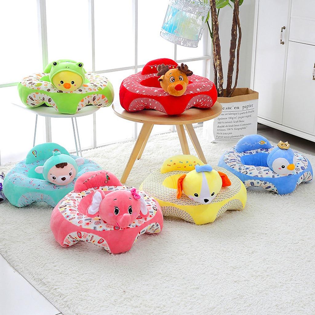 Baby Sitting Chair Cartoon Animal Plush Sofa Safety Seat