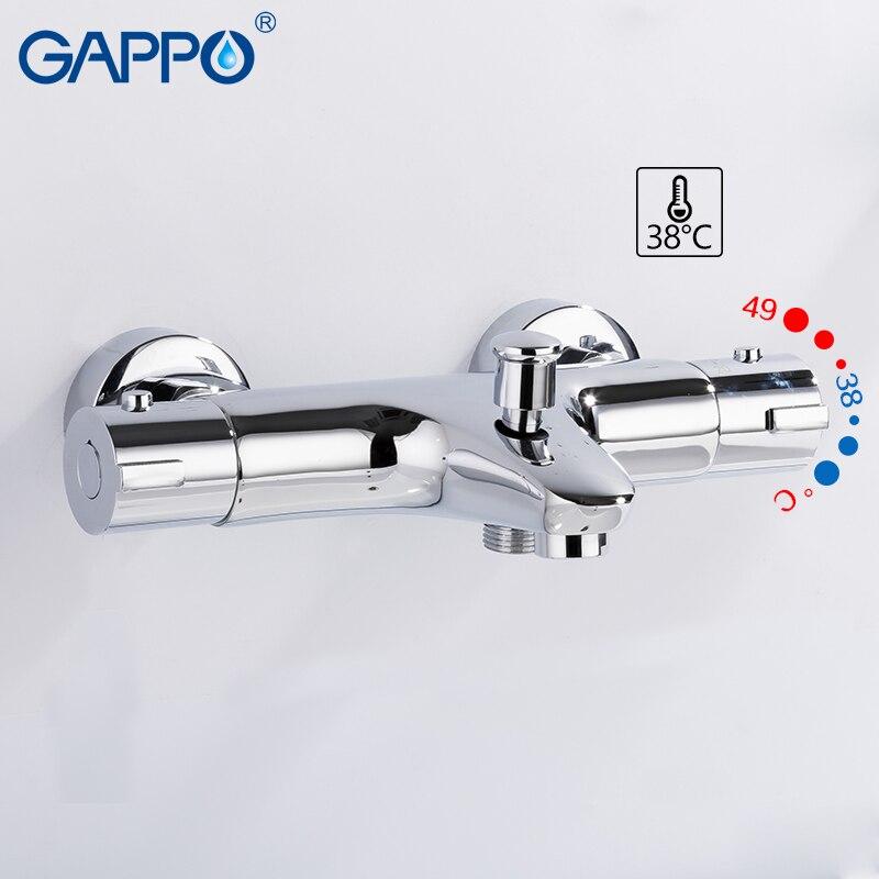 GAPPO robinets de douche mitigeur de bain thermostatique avec thermostat mitigeur robinets mural cascade robinet de baignoire