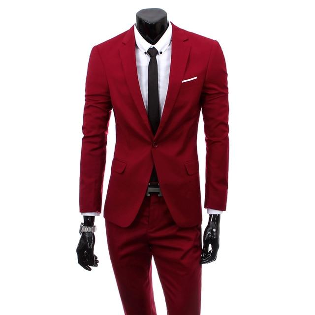 Mens Suit Coat Pant Vest Formal Blazer Jacket Business Designs ...